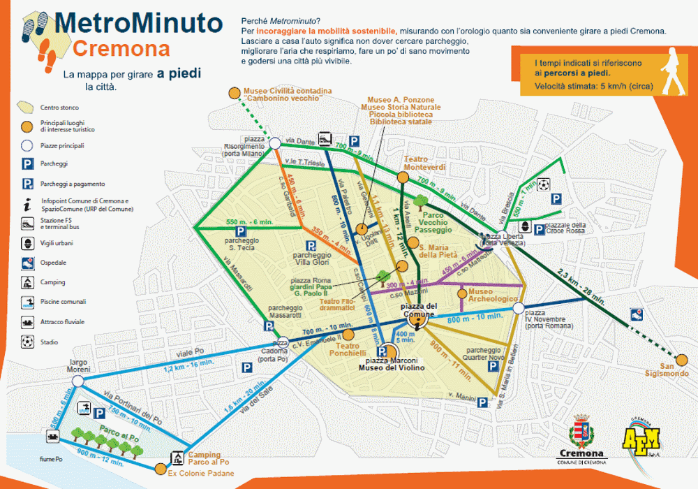 CREMONA CITY MAP AND SUSTAINABLE MOBILITY Luna Residence Hotel