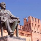 Giuseppe Verdi's bronze monument by Luigi Secchi